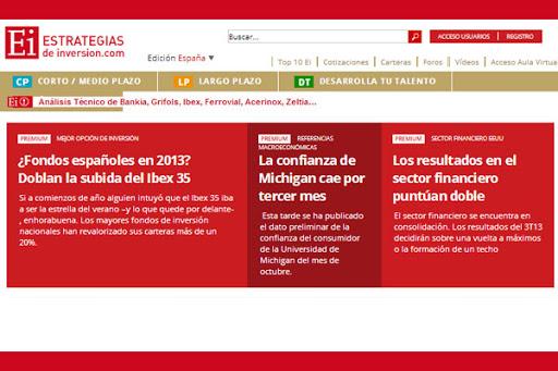 estrategias de inversión página web aspecto
