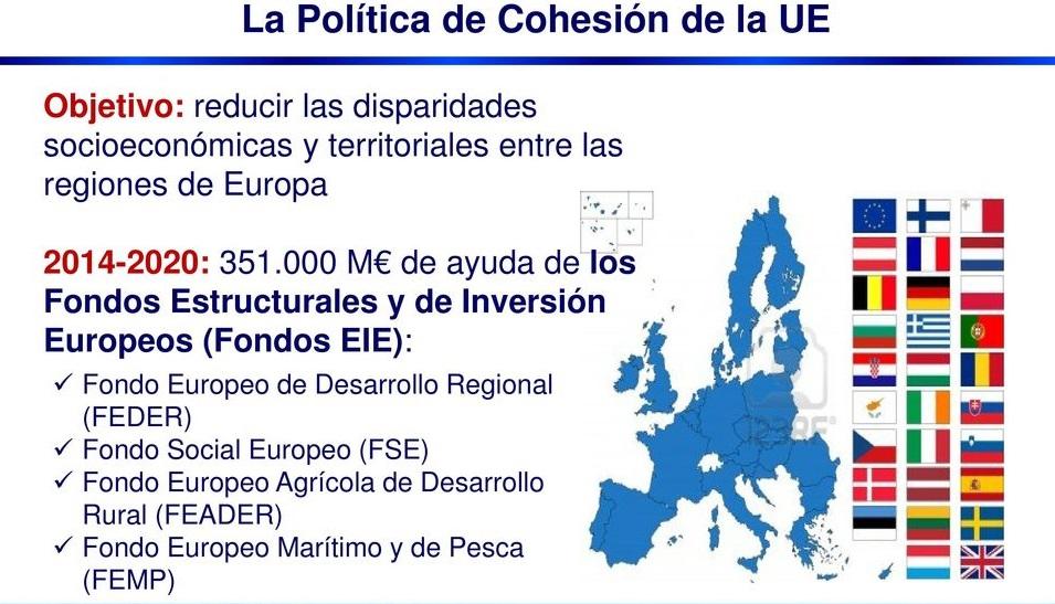 fondos estructurales y de inversión europeos política cohesión