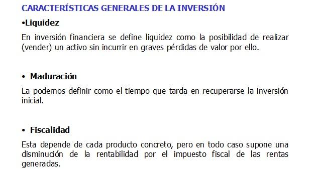 inversión financiera características 2